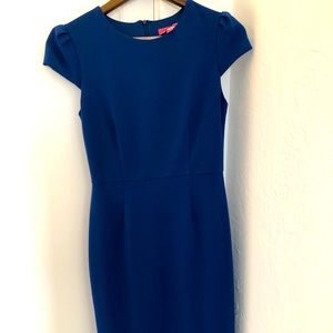 Betsey Johnson blue short sleeve dress